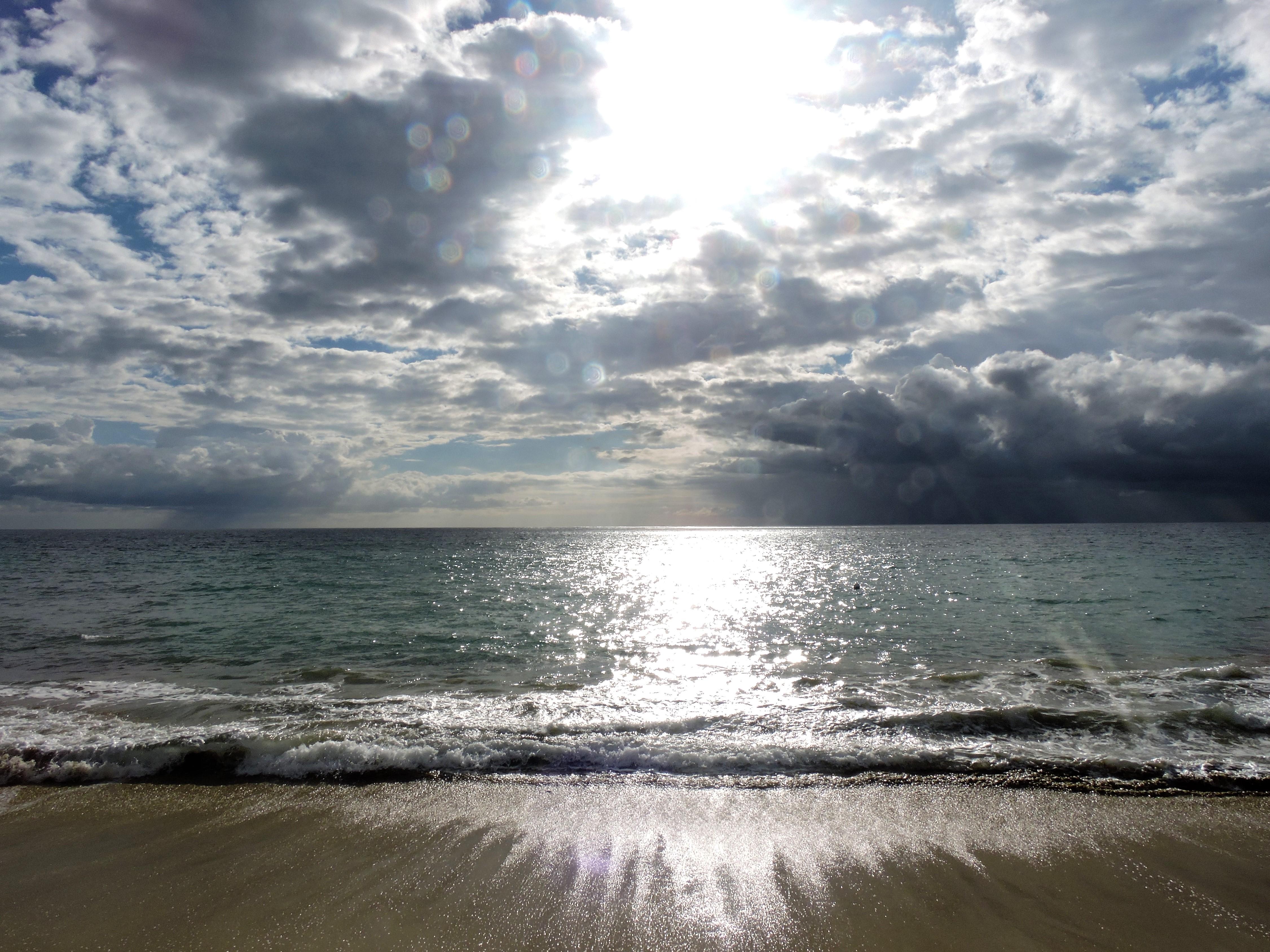 Beach before sunset Villa Cofresi Rincon Puerto Rico
